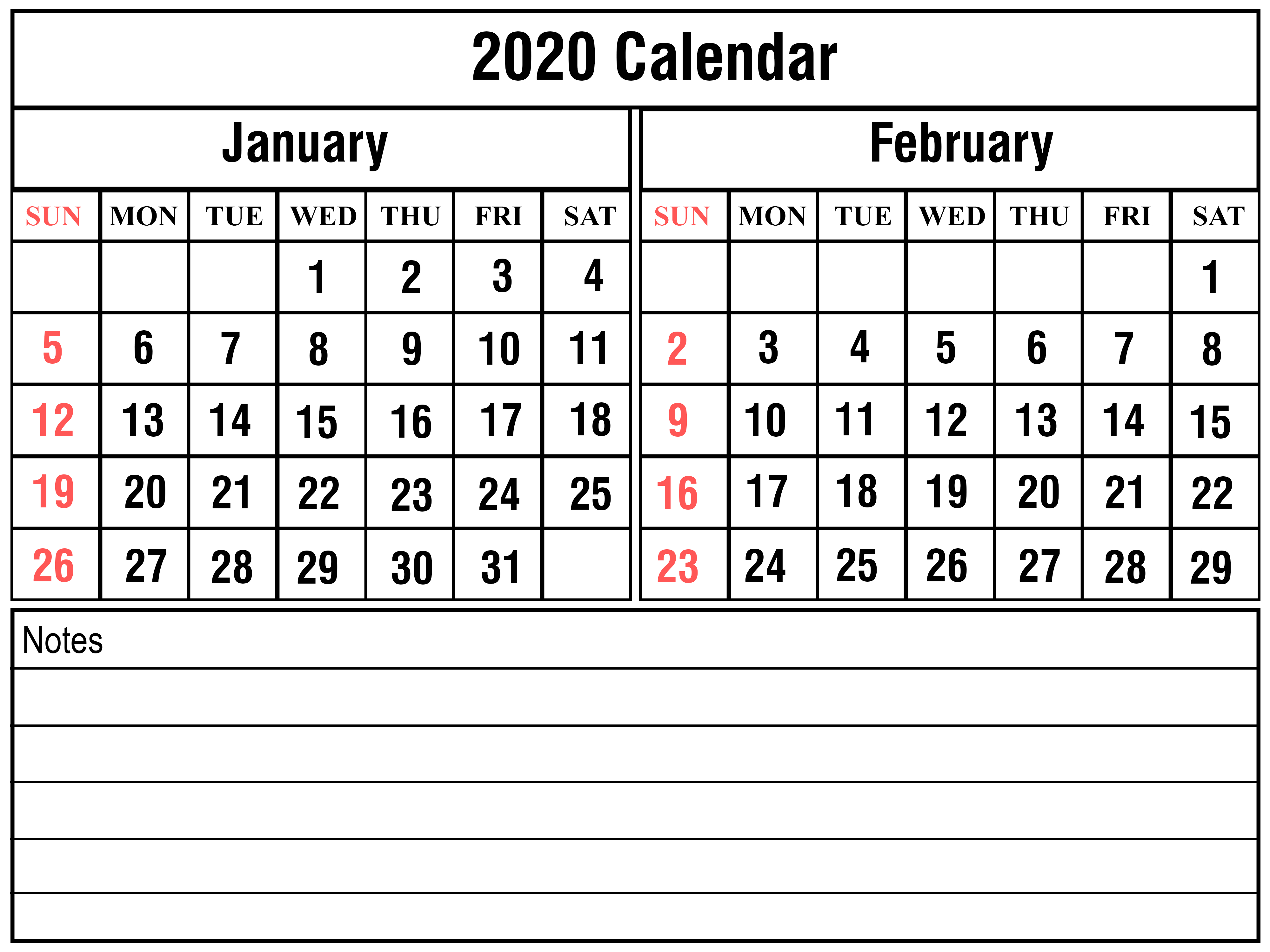 Calendar School  Free Printable & Blank Calendar (Yearly pertaining to January 2020 Waterproof Calendar