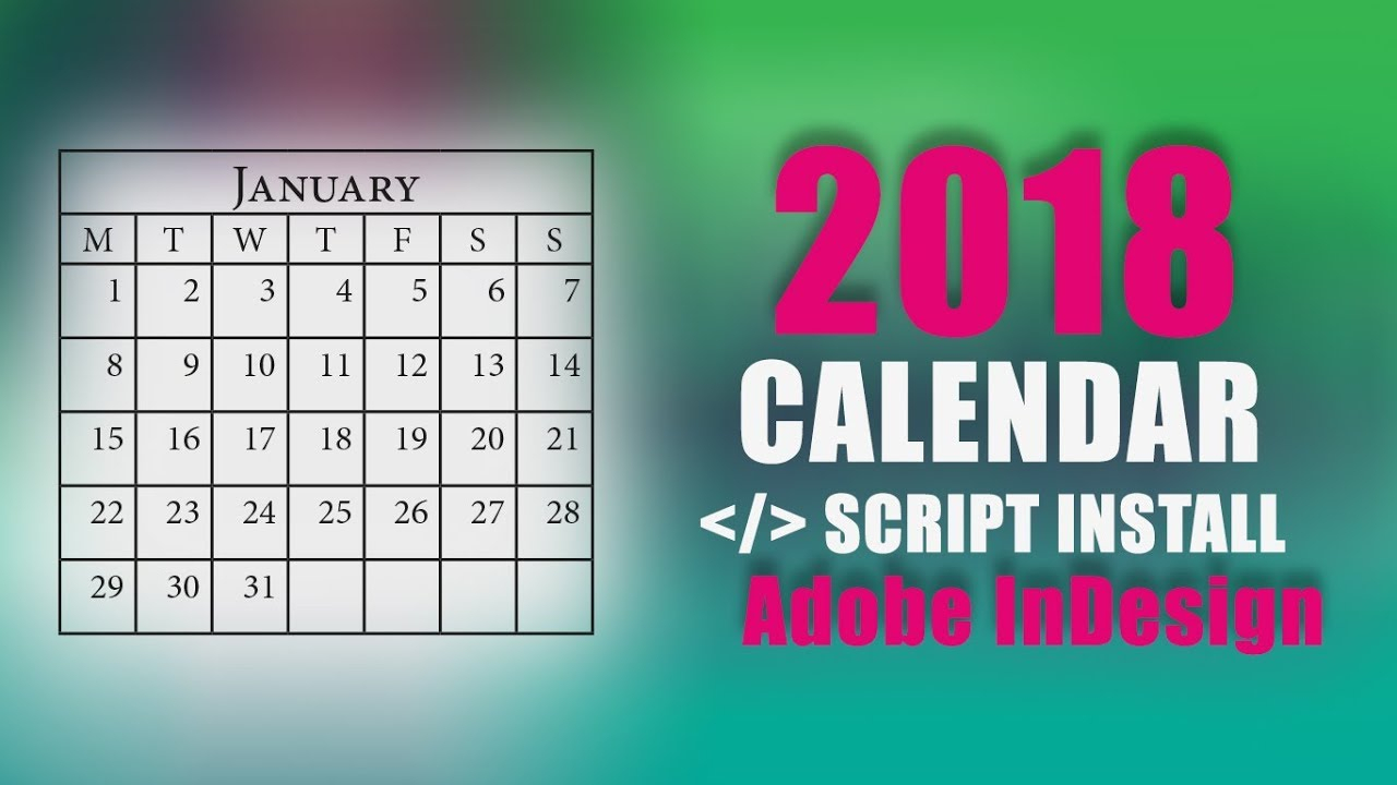 Calendar Script | How To Install Calendar Script In Adobe Indesign with regard to Script Calendario Photoshop
