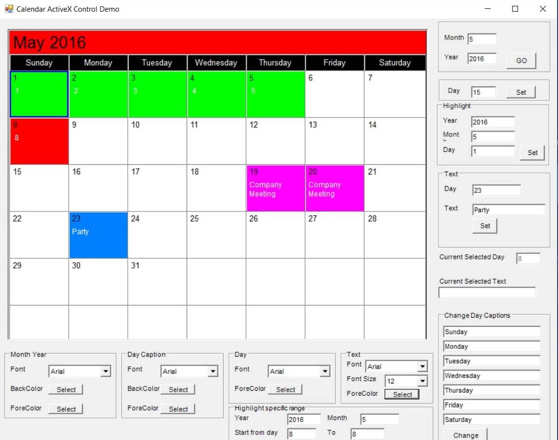 Calendar Sdk Activex throughout Vb6 Calendar Control
