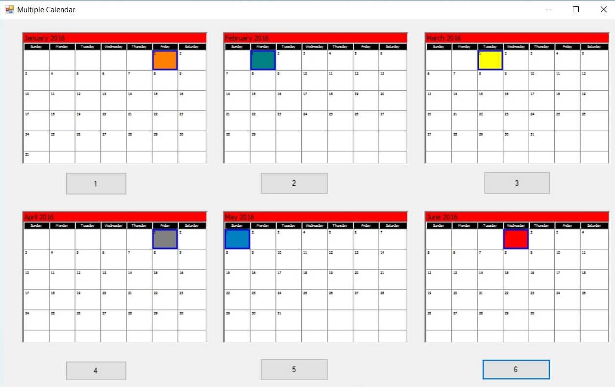 Calendar Sdk Activex with Vb6 Calendar Control