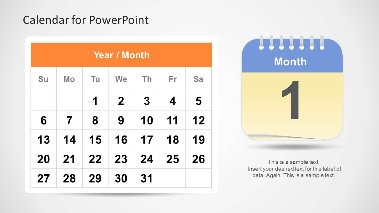 Calendar Template For Powerpoint in Calendar Icon Powerpoint