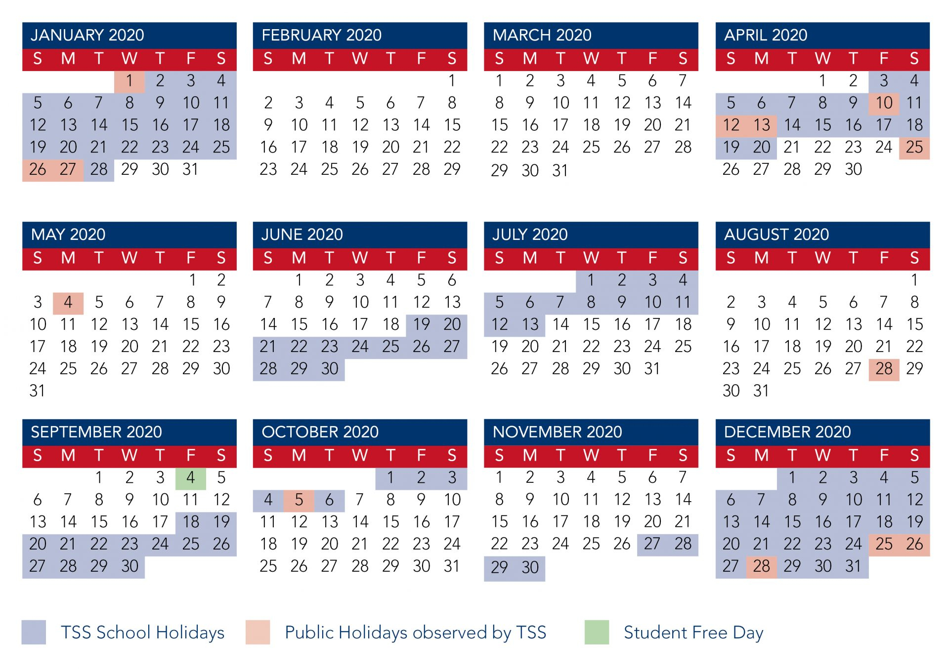 Calendar | The Southport School for 2020 Qut Academic Calendar