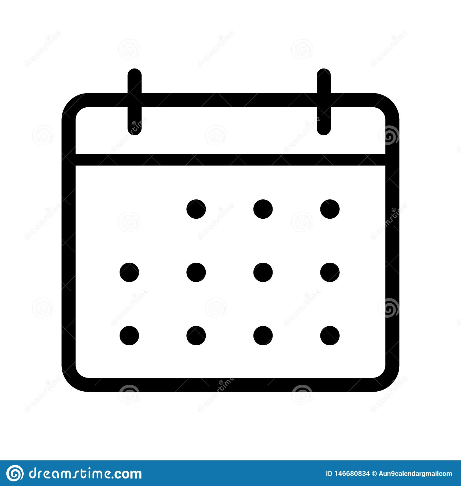 Calendar Vector Icon. Illustration Isolated For Graphic And inside Icon Calendar Vector