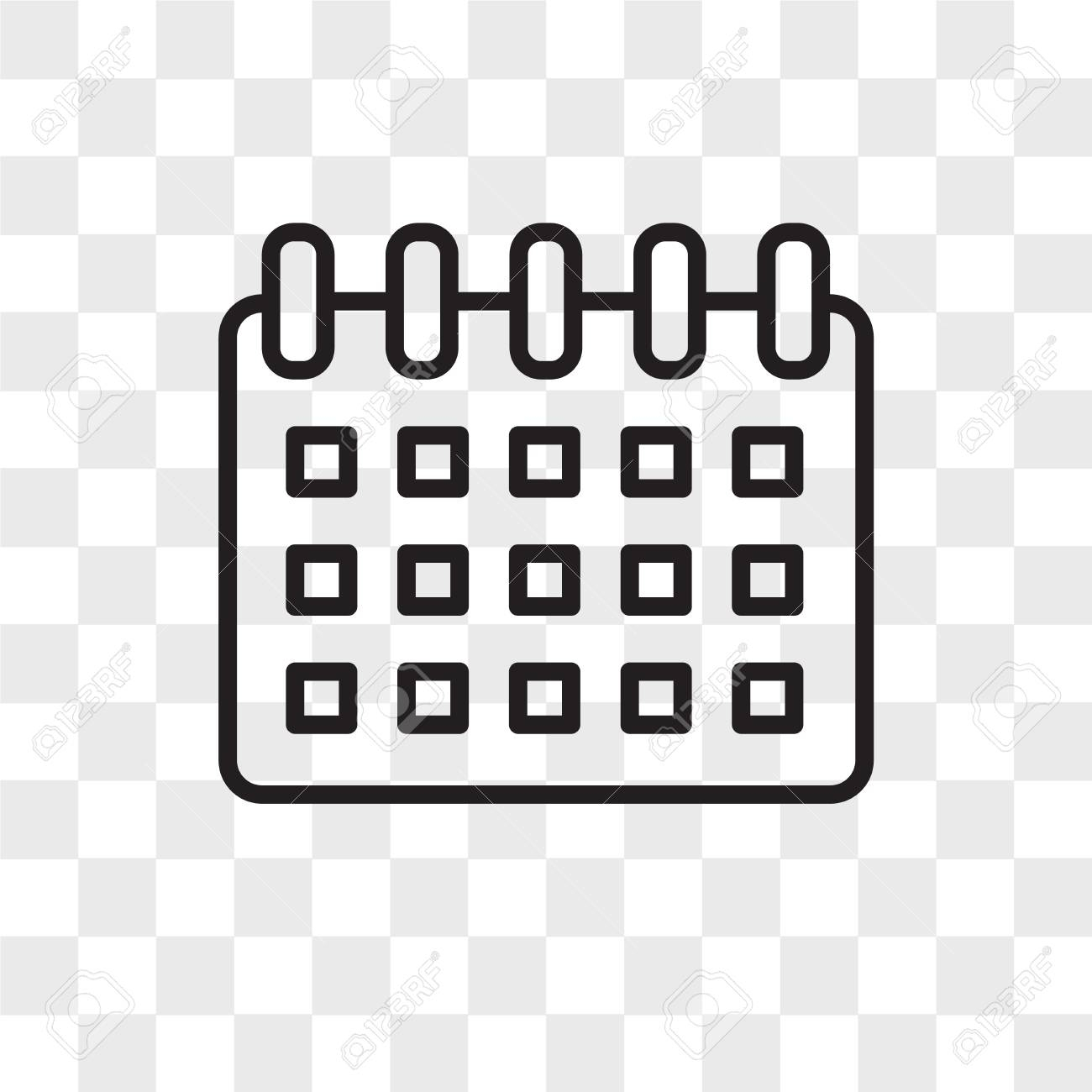 Calendar Vector Icon Isolated On Transparent Background, Calendar.. regarding Icon Calendar Vector