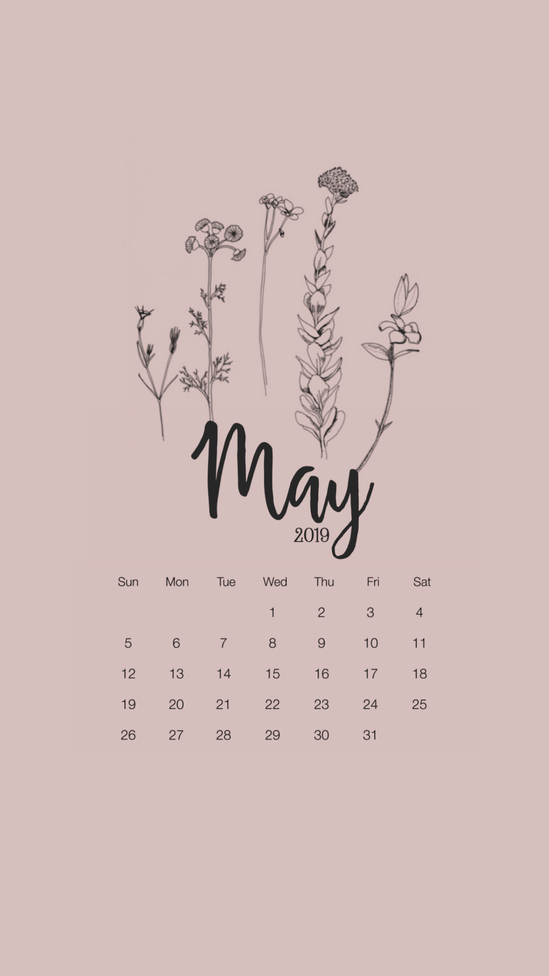 Calendar Wallpaper | Tumblr with Studyblr Calendar 2020