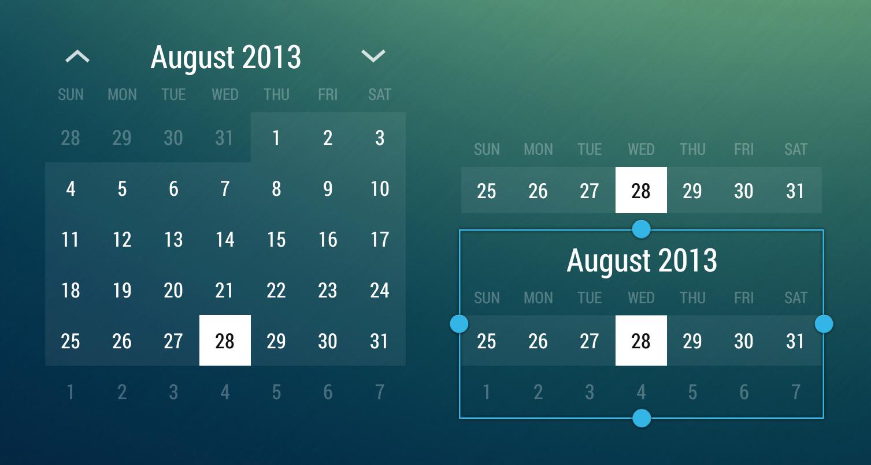 Calendar Widget, Android, Calendar pertaining to Android Arsenal Calendar