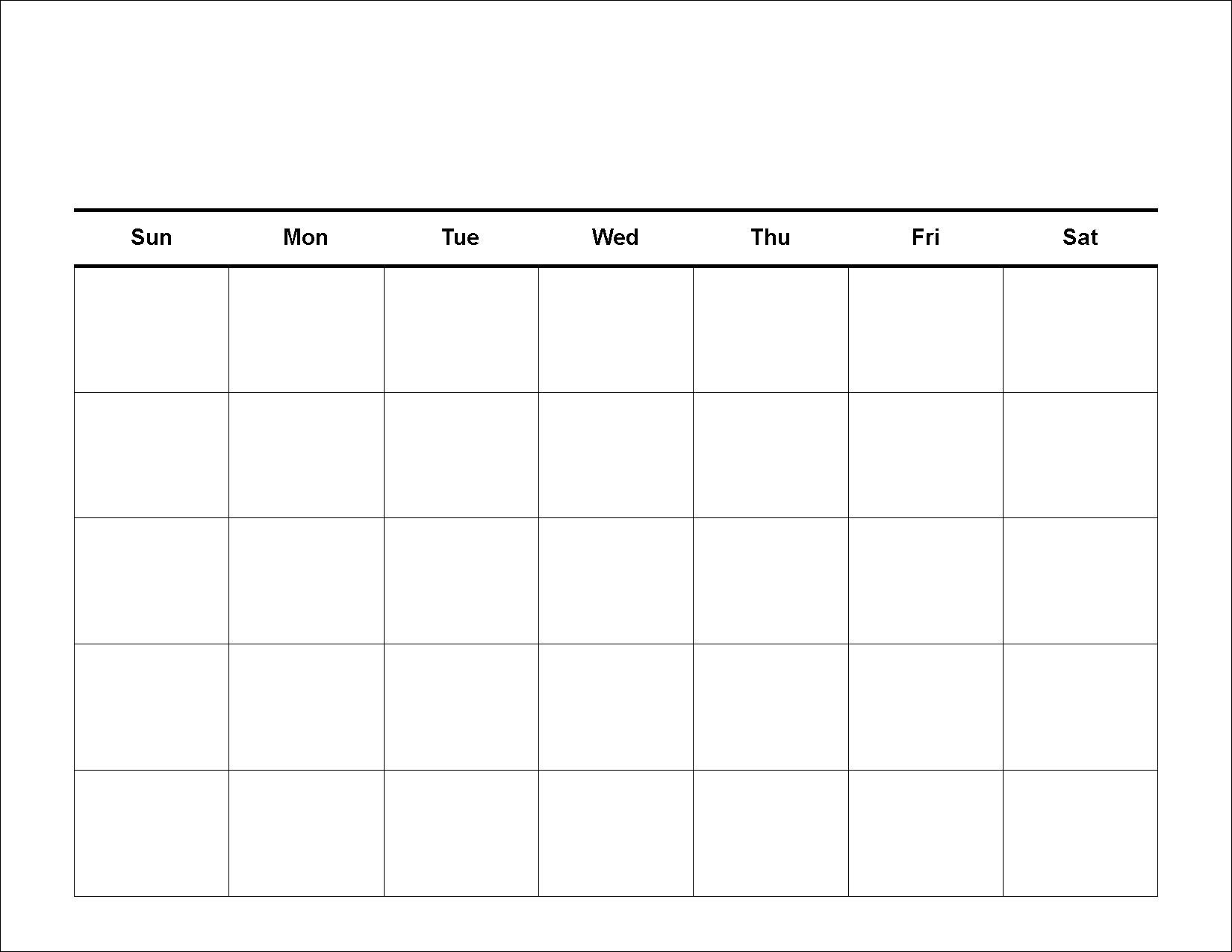Calendar With Blank Squares | Calendar Template Information in Calendar With Large Squares