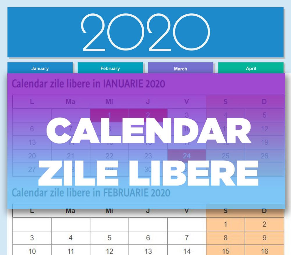 Calendar Zile Libere 2020 | Dragoş Şerban intended for Calendar 2020 Zile Lucratoare