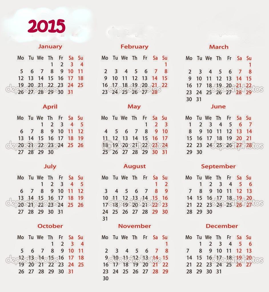 Calendario 2015 Para Imprimir for Calendario 2015 Para Imprimir