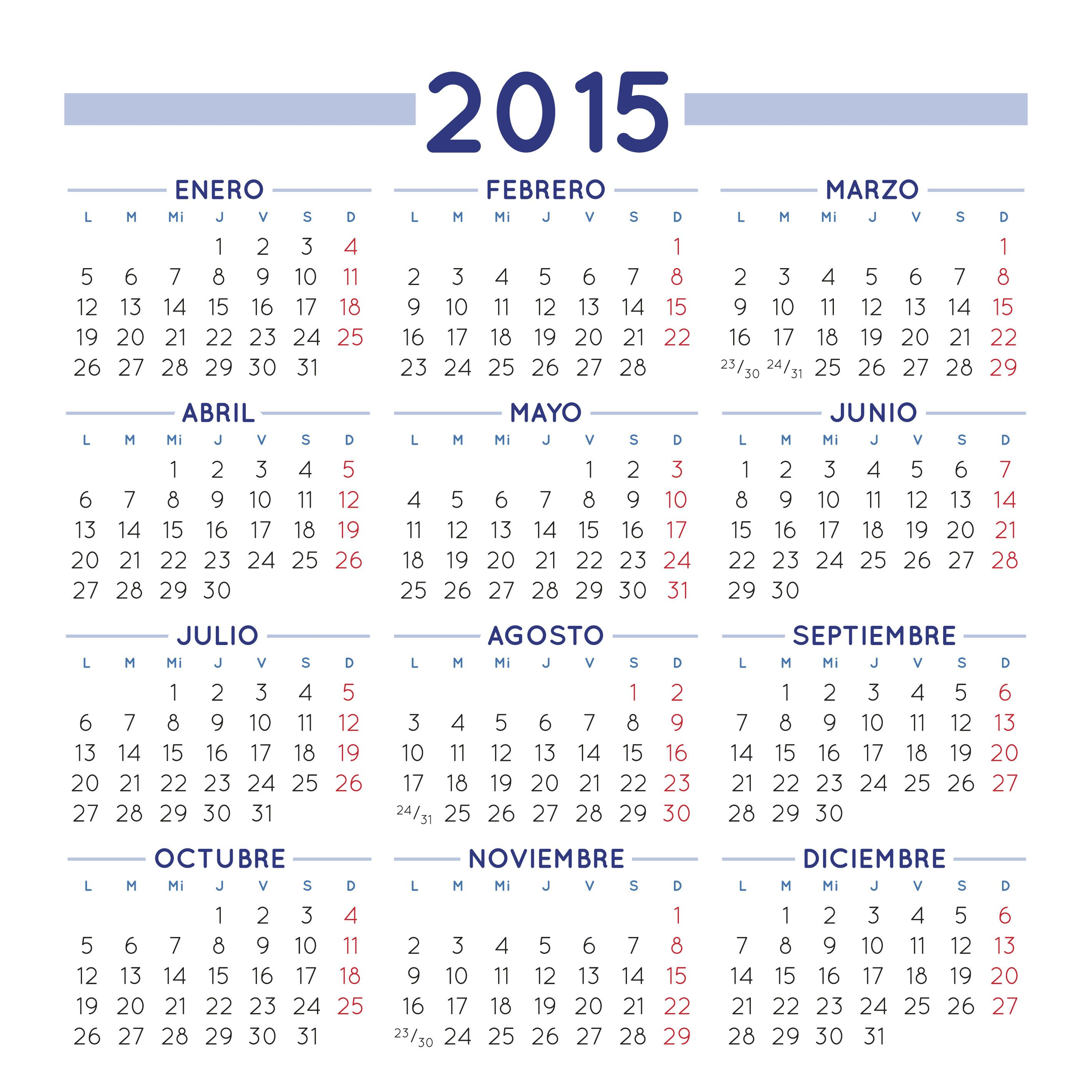 Calendario 2015 Para Imprimir Gratis | Calendar throughout Calendario 2015 Para Imprimir