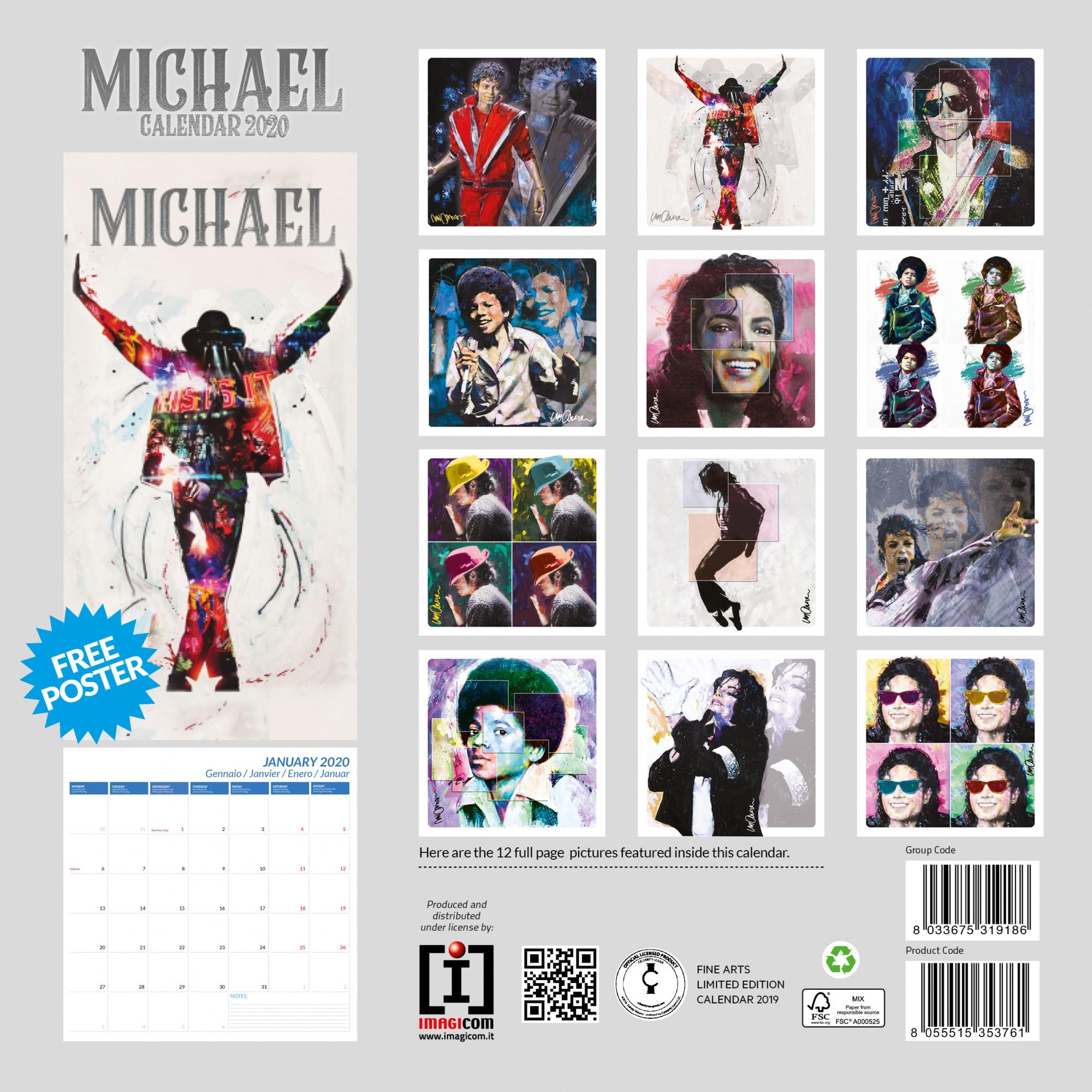 Calendario 2020 Michael Jackson inside Calendario 2020 Michel