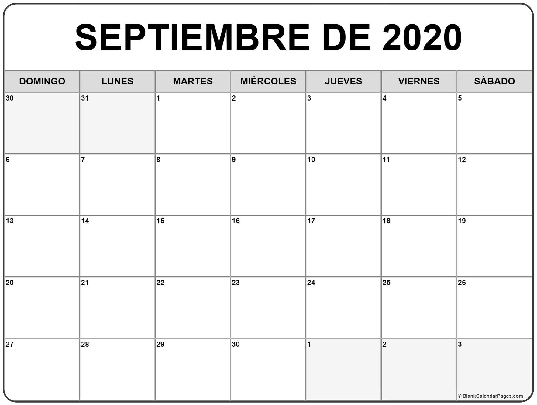 Calendario De Septiembre 2020  Yatay.horizonconsulting.co with regard to Calendario Zbinden 2020