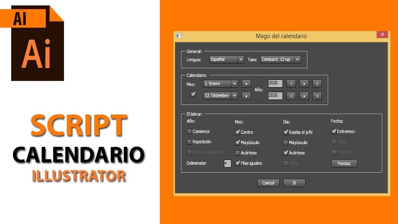 Calendario En Illustrator Script Tutorial inside Script Calendario Photoshop
