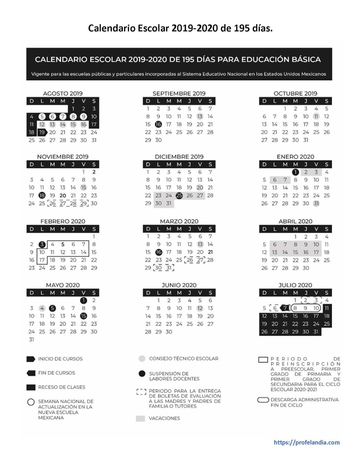 Calendario Escolar 20192020  Alexduve in Calendario Escolar Sep 2020 2020