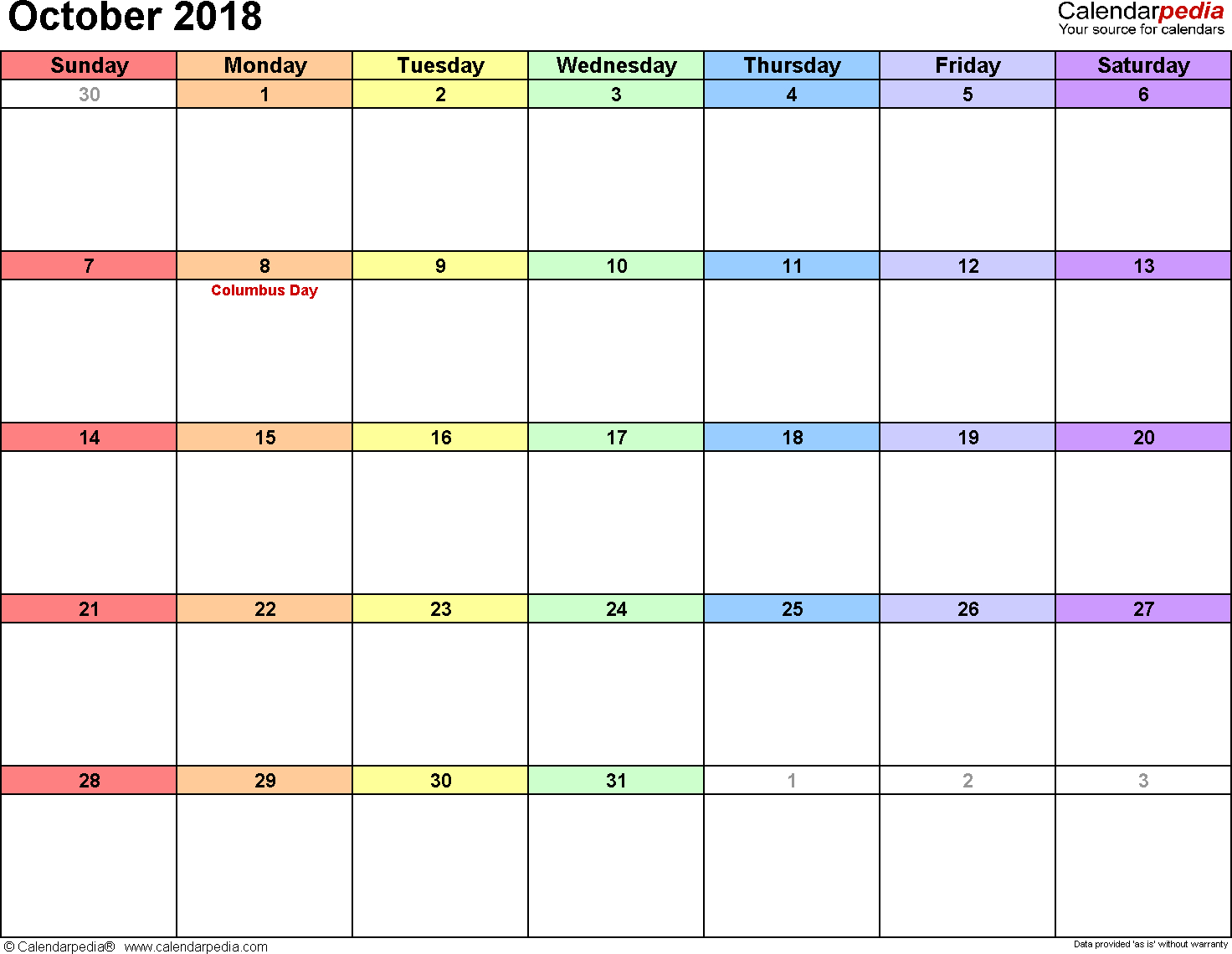 Calendarpedia, Word Templates For All Kinds Of Calendar for Calendarpedia 2020 Excel