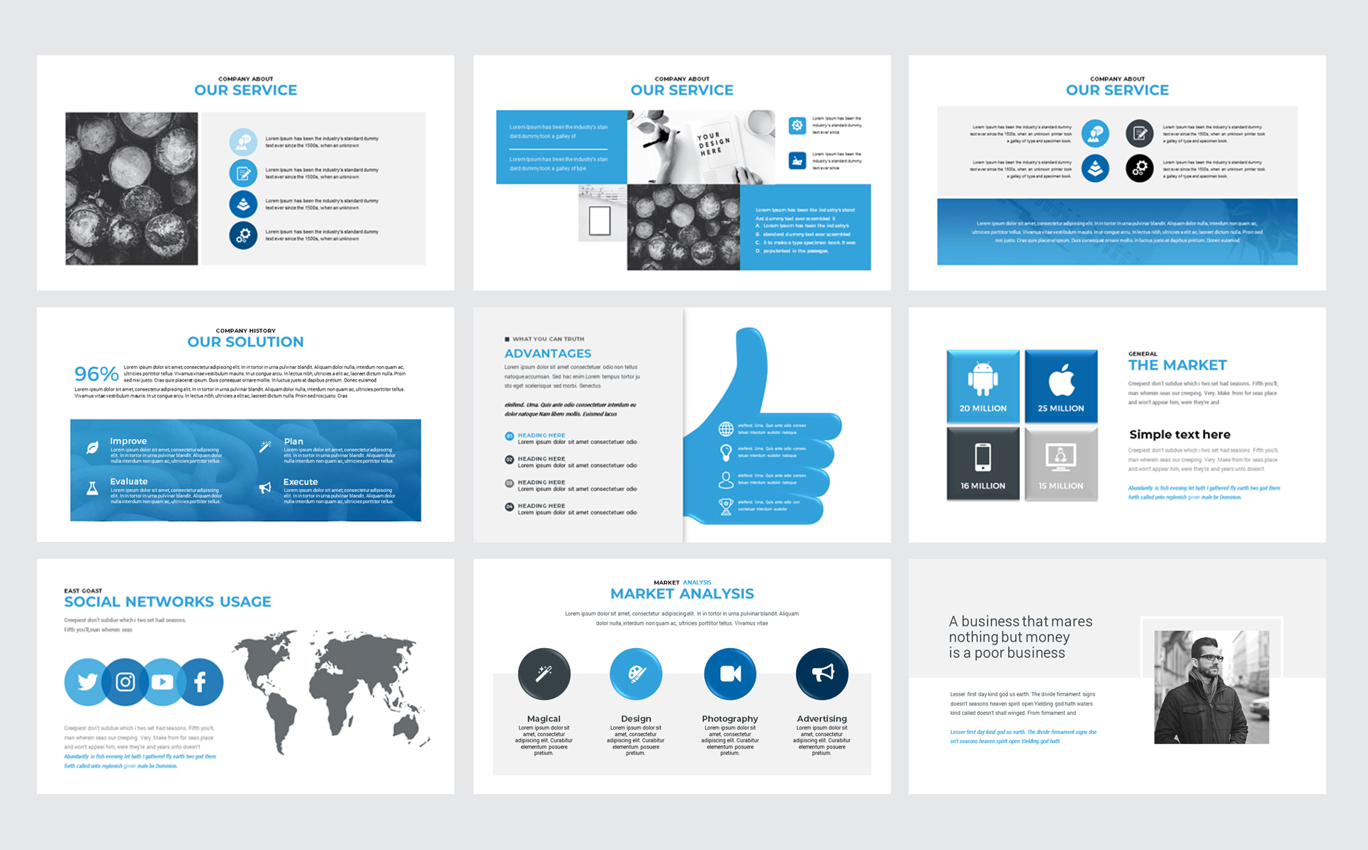 Canva Multipurpose Presentation Powerpoint Template #74412 throughout Canva Ticket Template