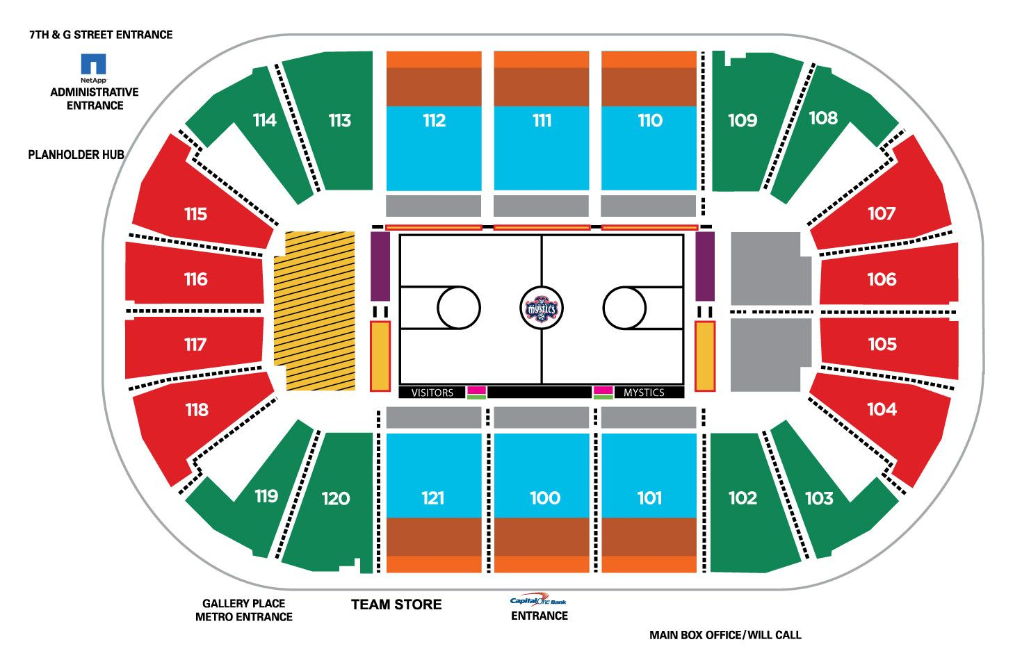 Capital One Arena: Seating Charts For Concerts, Events, C throughout Verizon Center Seating Chart