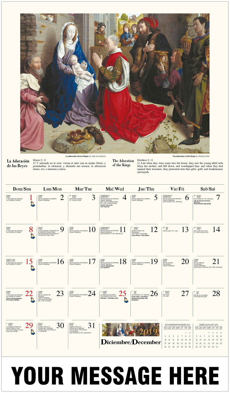 Catholic Inspiration (Spanishenglish Bilingual) regarding Catholic Liturgy Calendar 2020