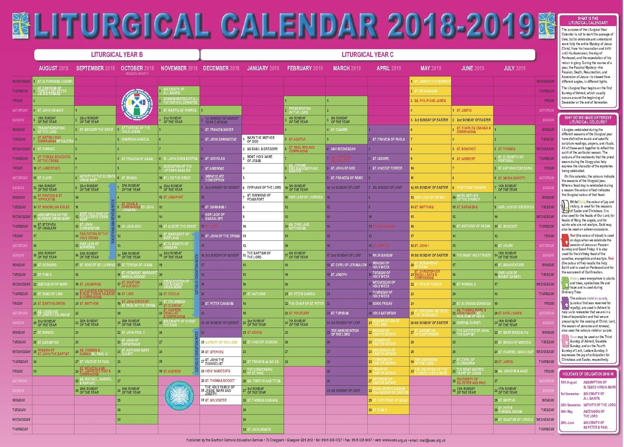 Catholic Liturgical Calendar 2020 Pdf  Calendar Inspiration regarding Liturgical Calendar 2020 Printable