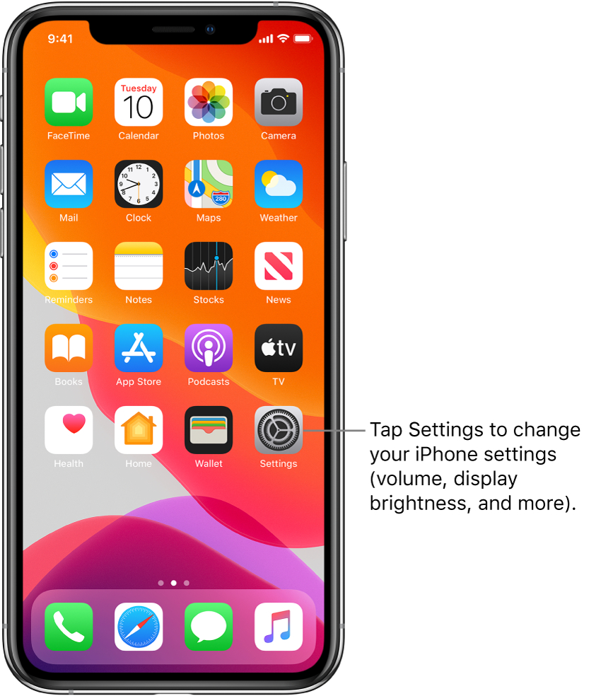 Change Common Iphone Settings  Apple Support for Lost Calendar Icon On Iphone