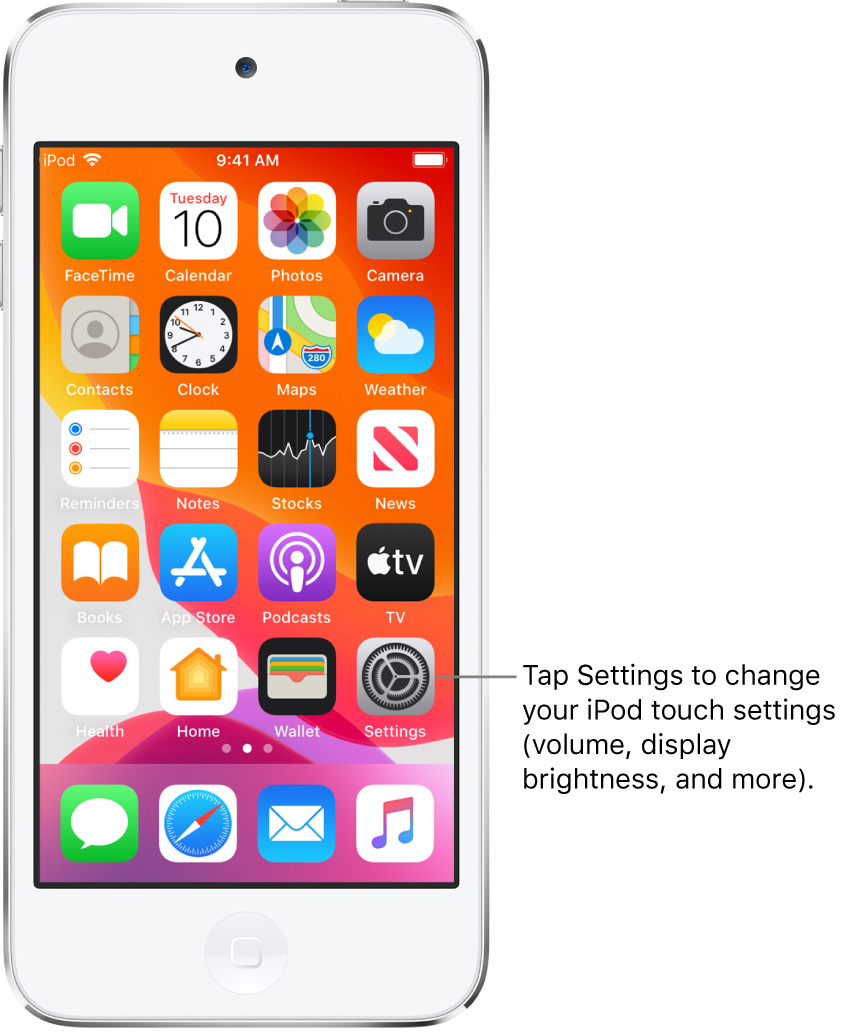 Change Common Ipod Touch Settings  Apple Підтримка with Apple Calendar App Icon