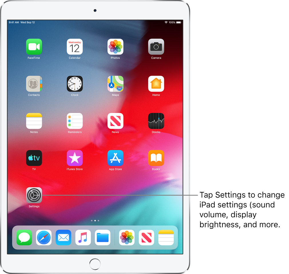 Change The Ipad Settings  Служба Підтримки Apple with Apple Calendar App Icon