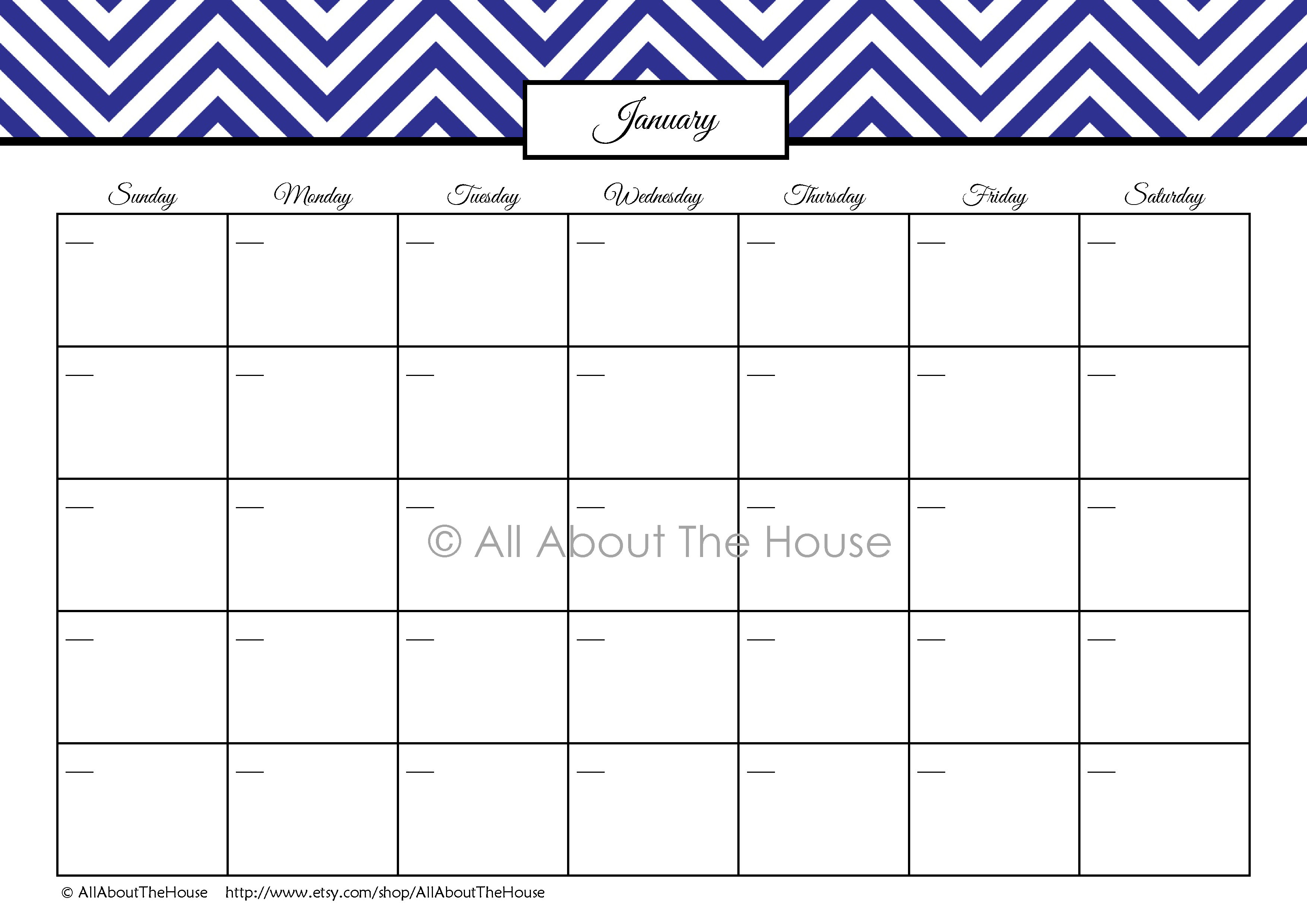 Chevron Finance Binder Set – Household Binder Printables inside Printable Perpetual Monthly Calendar