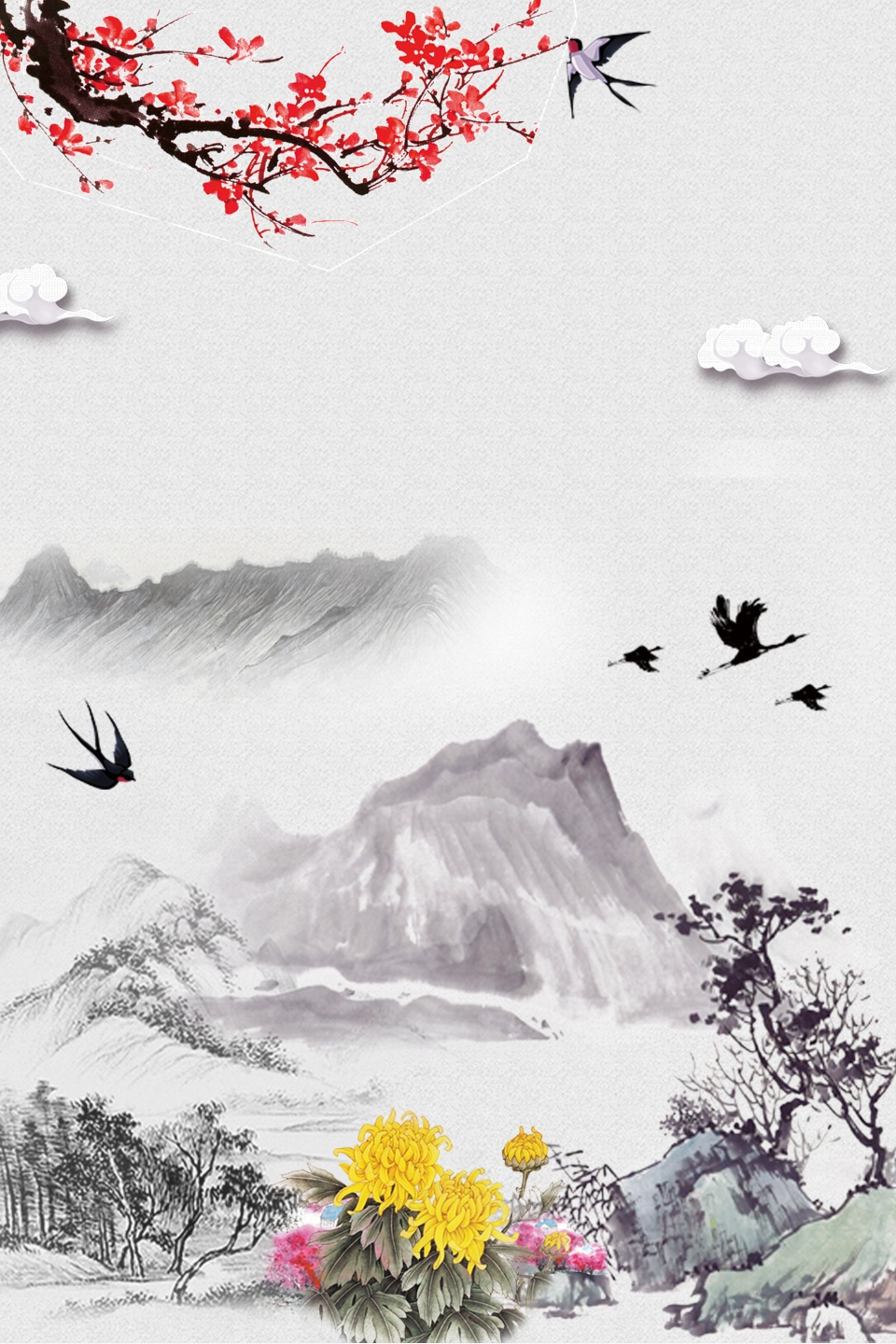 Ching Ming Festival Mountains Hills Bouquets, Hills with Ching Ming 2021