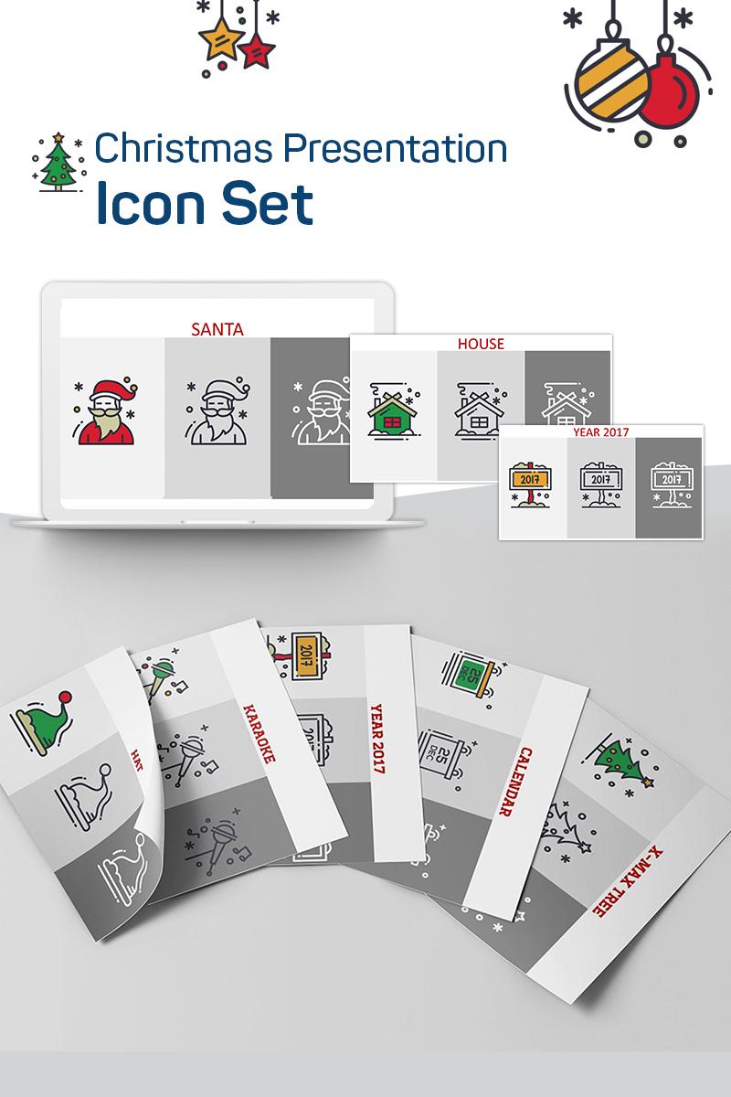 'christmas Presentation Powerpoint'  Набір Іконок №75341 inside Calendar Icon Powerpoint