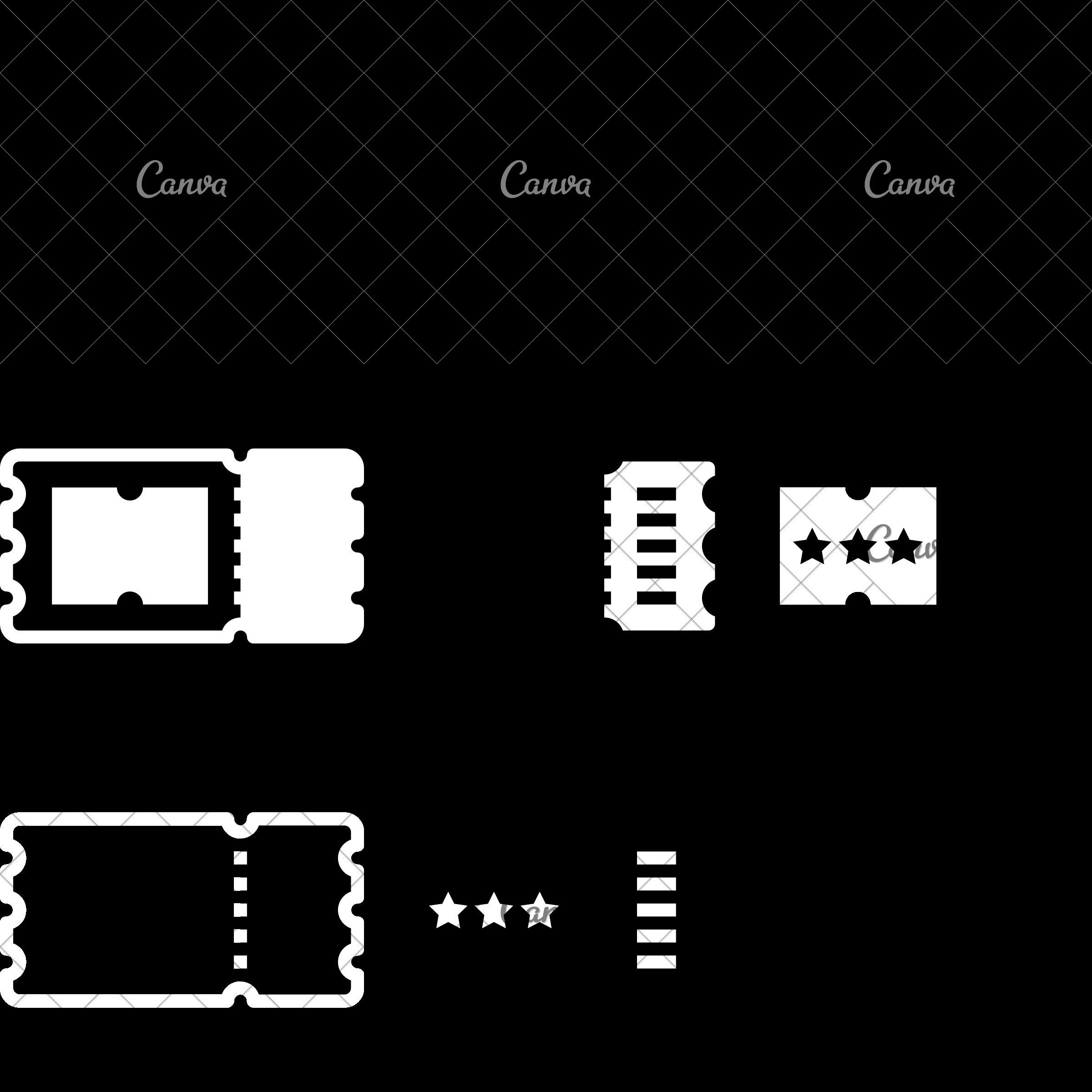 Cinema Ticket  Icons By Canva throughout Canva Ticket Template