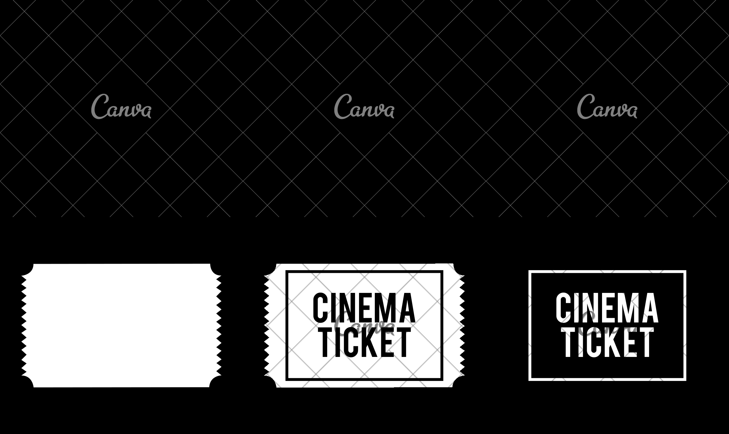 Cinema Ticket  Icons By Canva with Canva Ticket Template