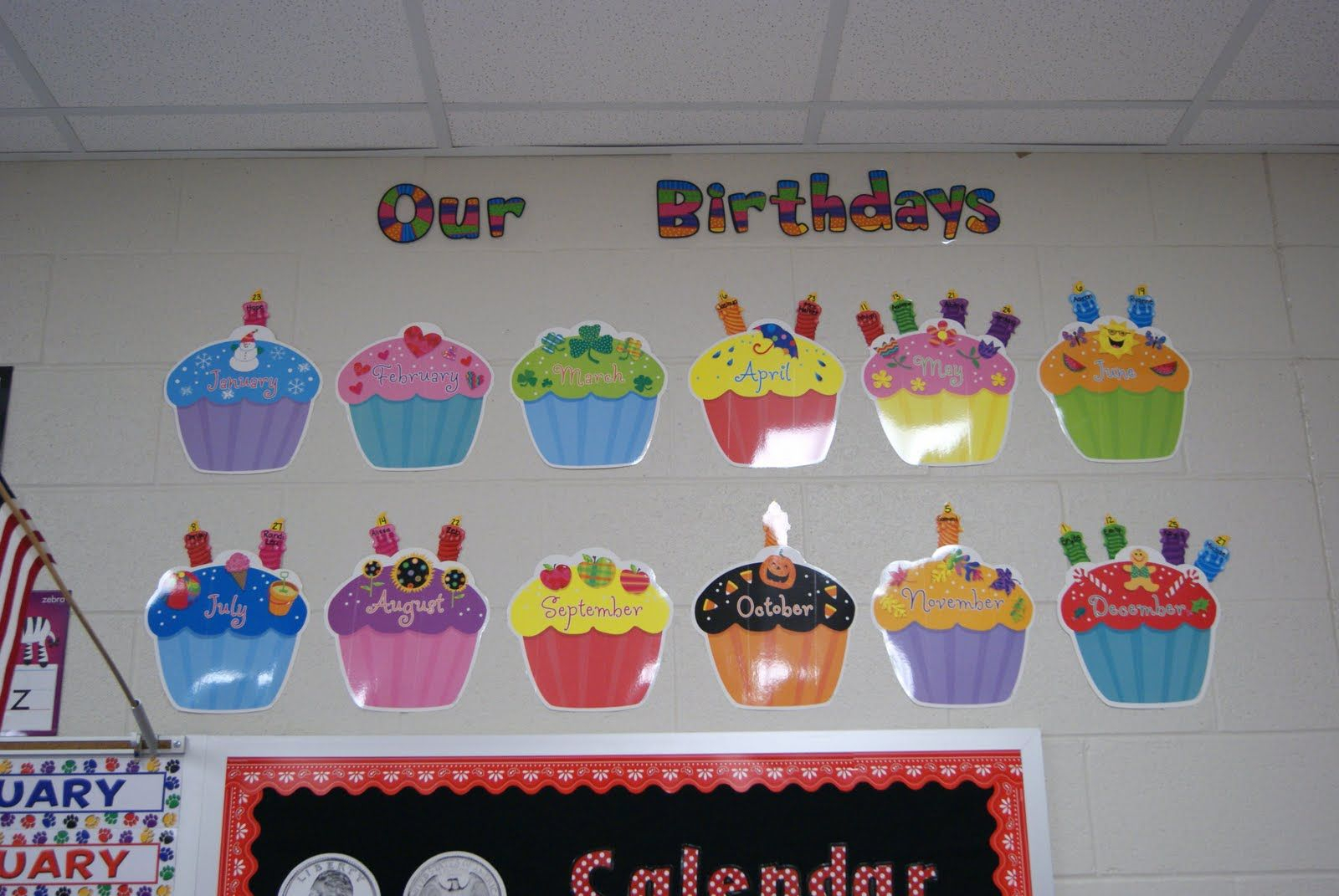 Classroom+Birthday+Calendar | Happy Birthday Posters pertaining to Free Printable Cupcake Birthday Chart