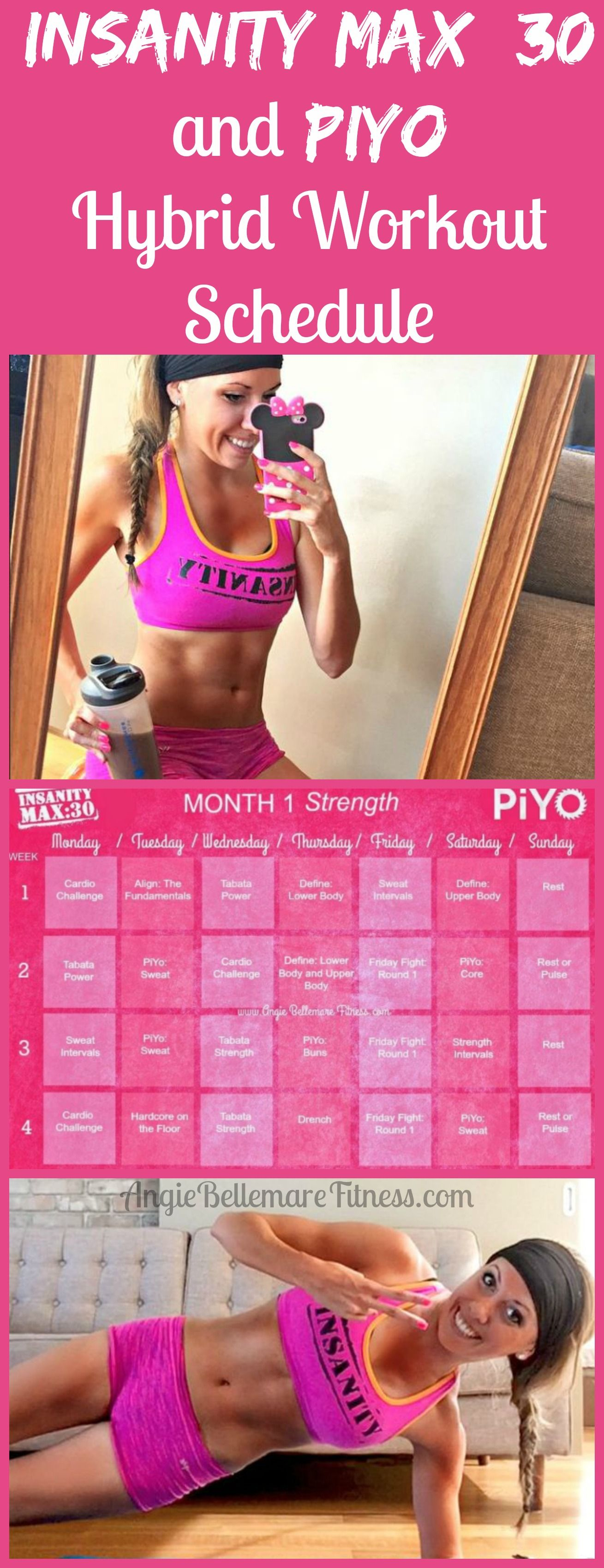 Click The Pin To See My Hybrid Calendar Of Two Of My inside Insanity Max 30 Hybrid