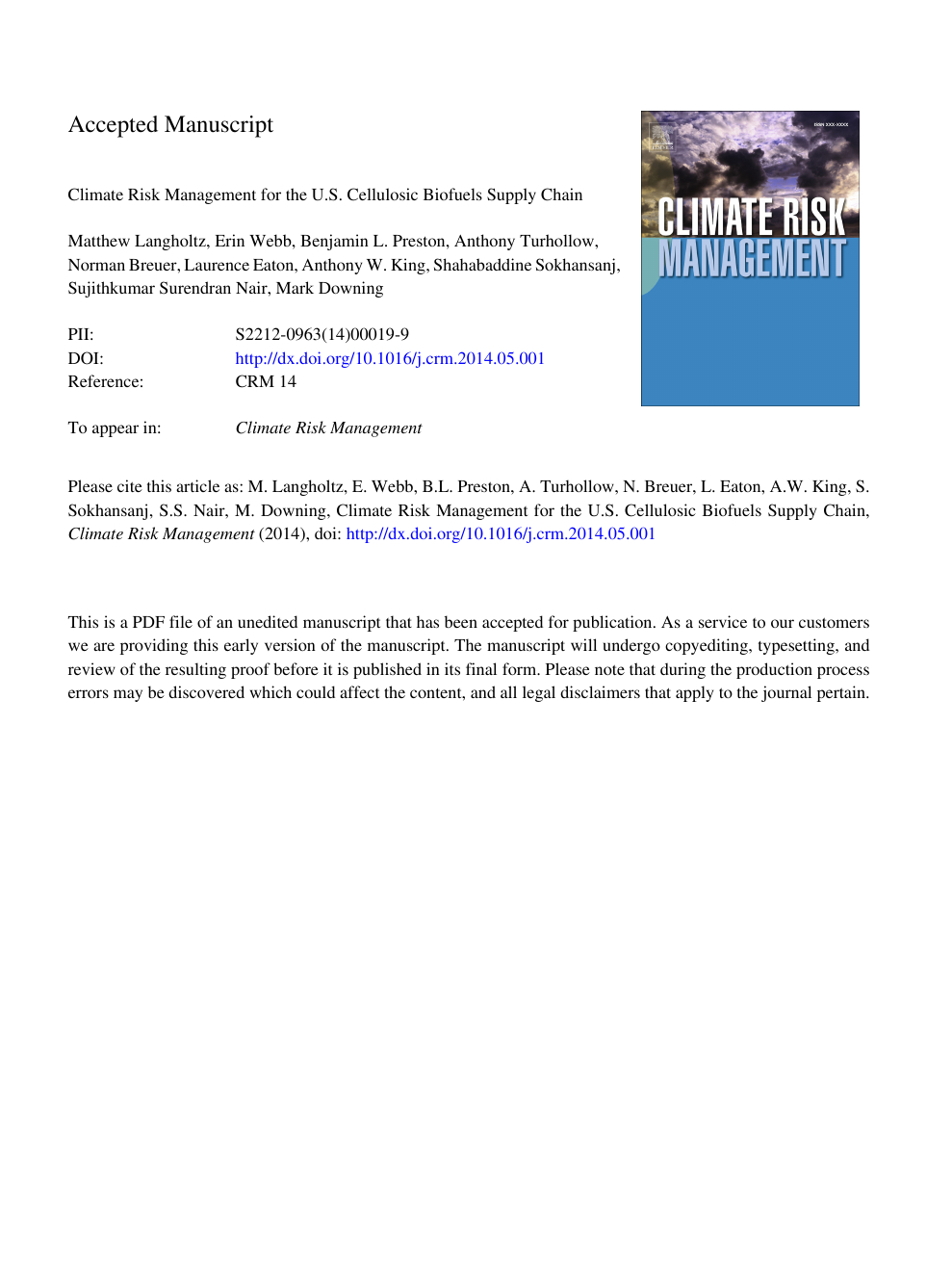 Climate Risk Management For The U.s. Cellulosic Biofuels within J Hampton Moore School Calendar