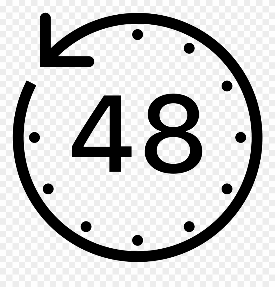 Clipart Clock Deadline  48 Hours Icon  Png Download inside Deadline Icon Png