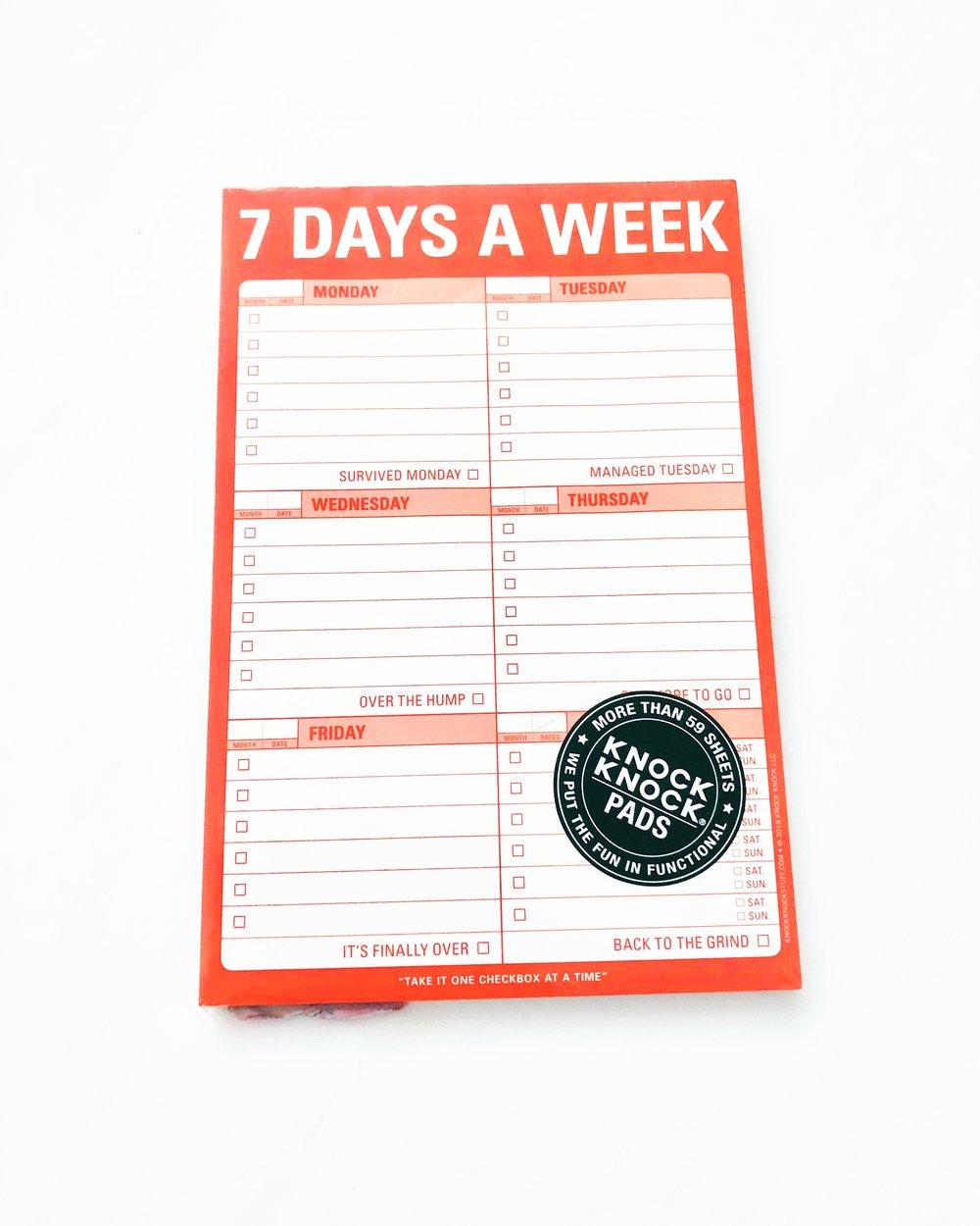 Cmid   Christy Maingot Interior Design  7 Days A Week Planner intended for 7 Days A Week Planner