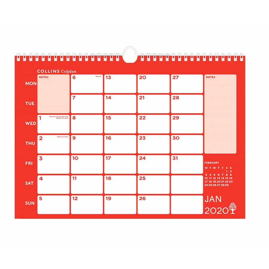 Collins Memo Calendar A3 2020 with regard to Kodak Calendar Maker