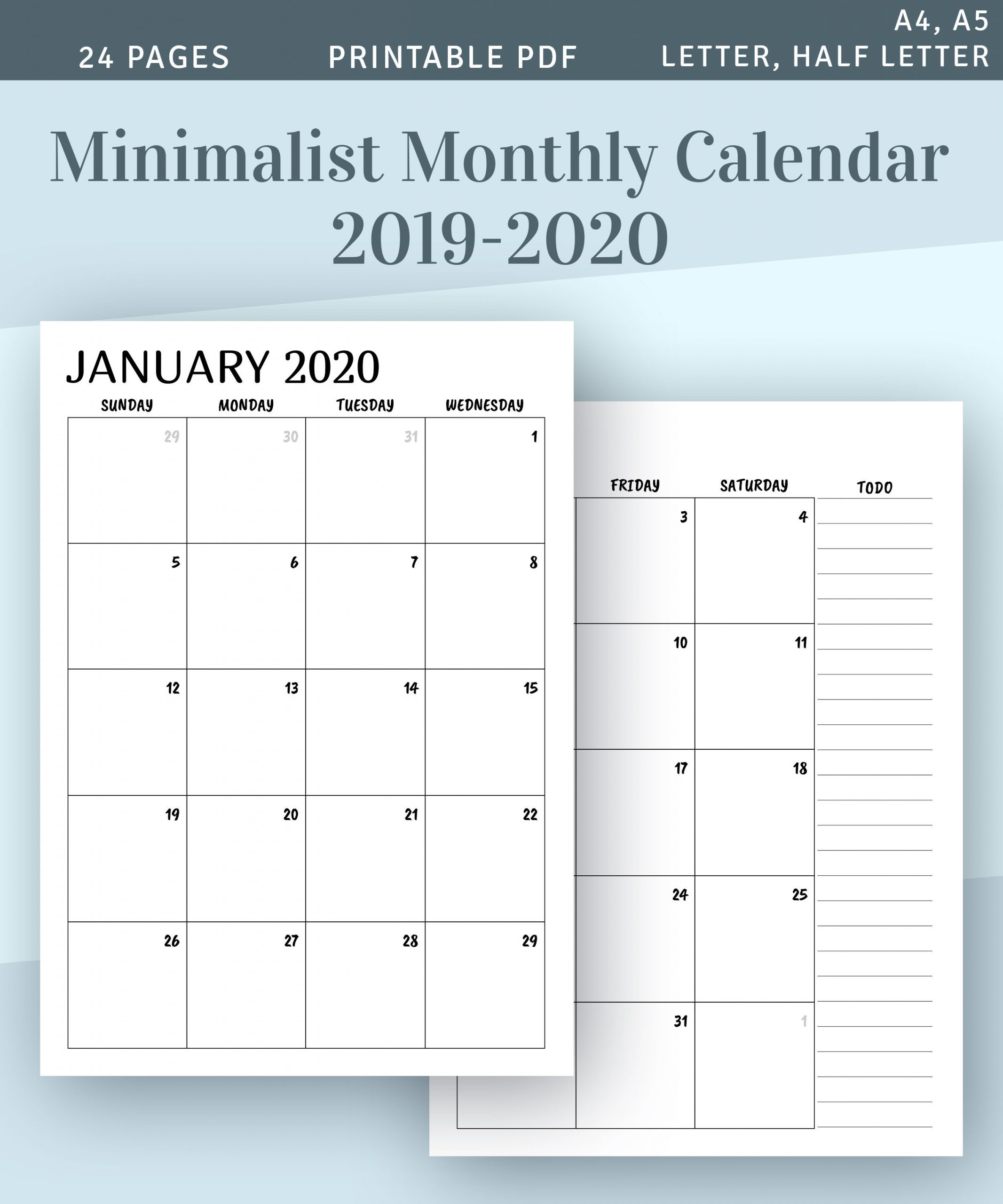 Color Pages ~ Two Page Monthly Calendar Phenomenal Image within Scattered Squirrel 2020 Calendar