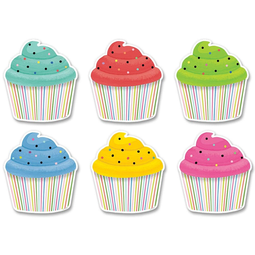"Color Pop Cupcake Accents 6"" in Cupcake Birthday Chart"
