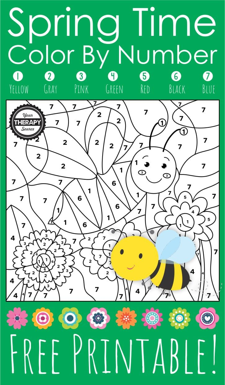 Coloring Pages : Spring Color By Number Freerintable Your with regard to Your Therapy Source Free