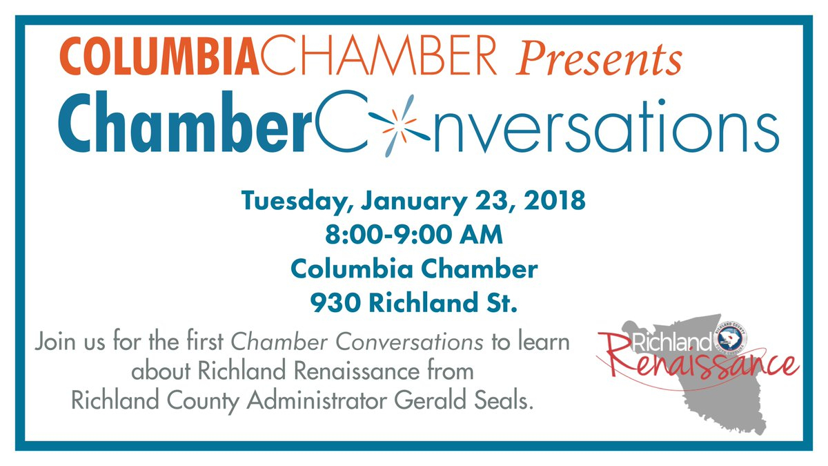 "Columbia Chamber On Twitter: ""mark Your Calendar For The in Richland 1 Calendar"