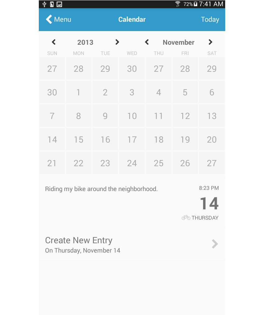 Common React Native App Layouts: Calendar Page with regard to React-Native-Calendars Agenda Example