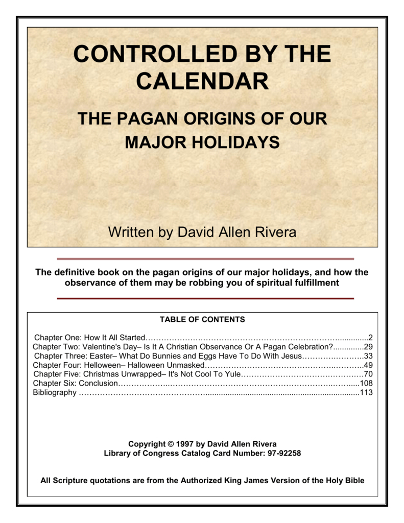 Controlled By The Calendar in B Gale Wilson Calendar