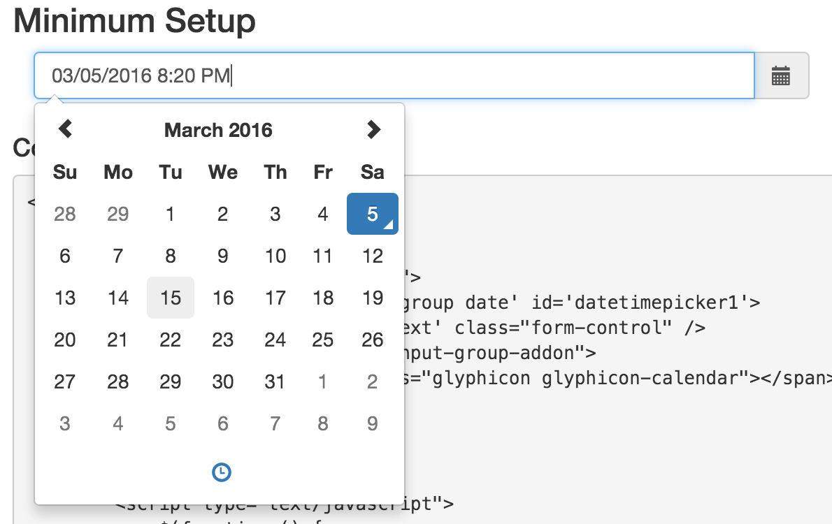 Controlling The Datepicker Calendar Margin Off Of The Date with Bootstrap 4 Calendar Icon