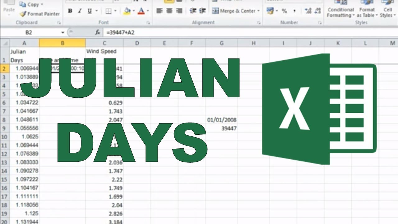 Converting Julian Days Into Date And Time In Excel for Convert Julian Date To Regular Date