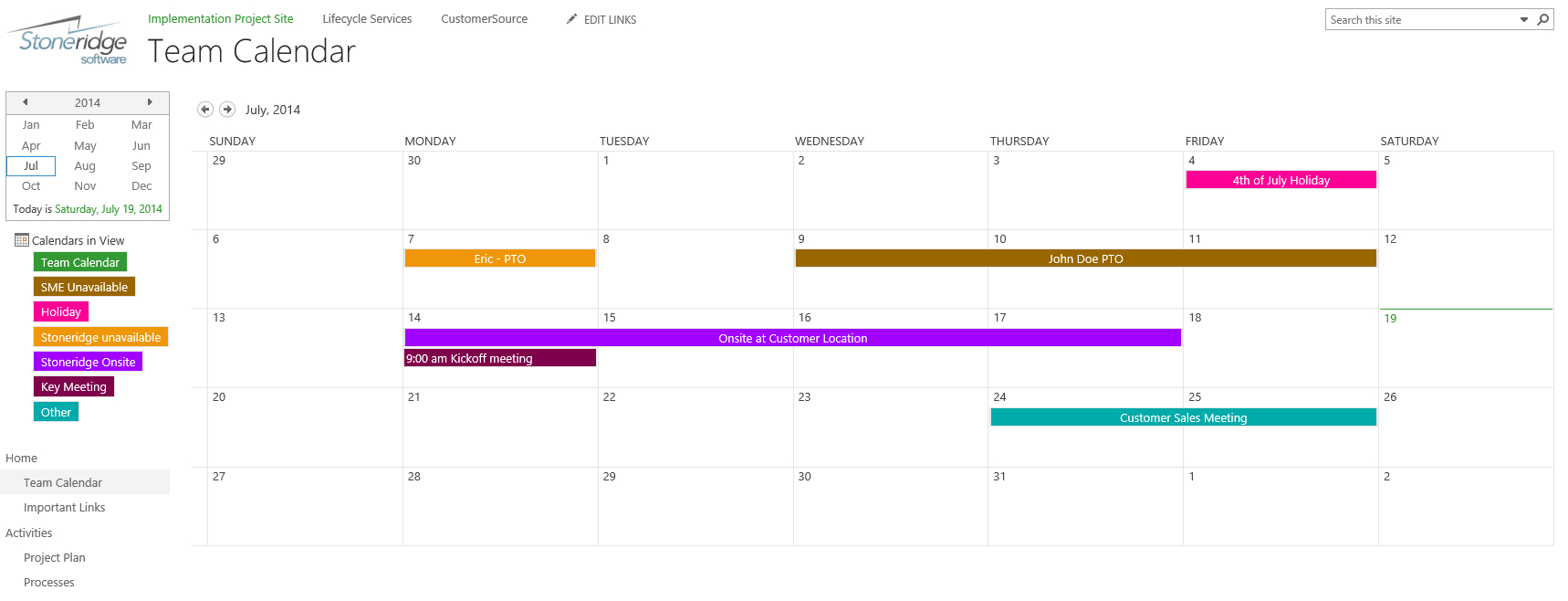 Creating A Color Coded Calendar In Sharepoint Online intended for Sharepoint Calendar Overlay Duplicate Events