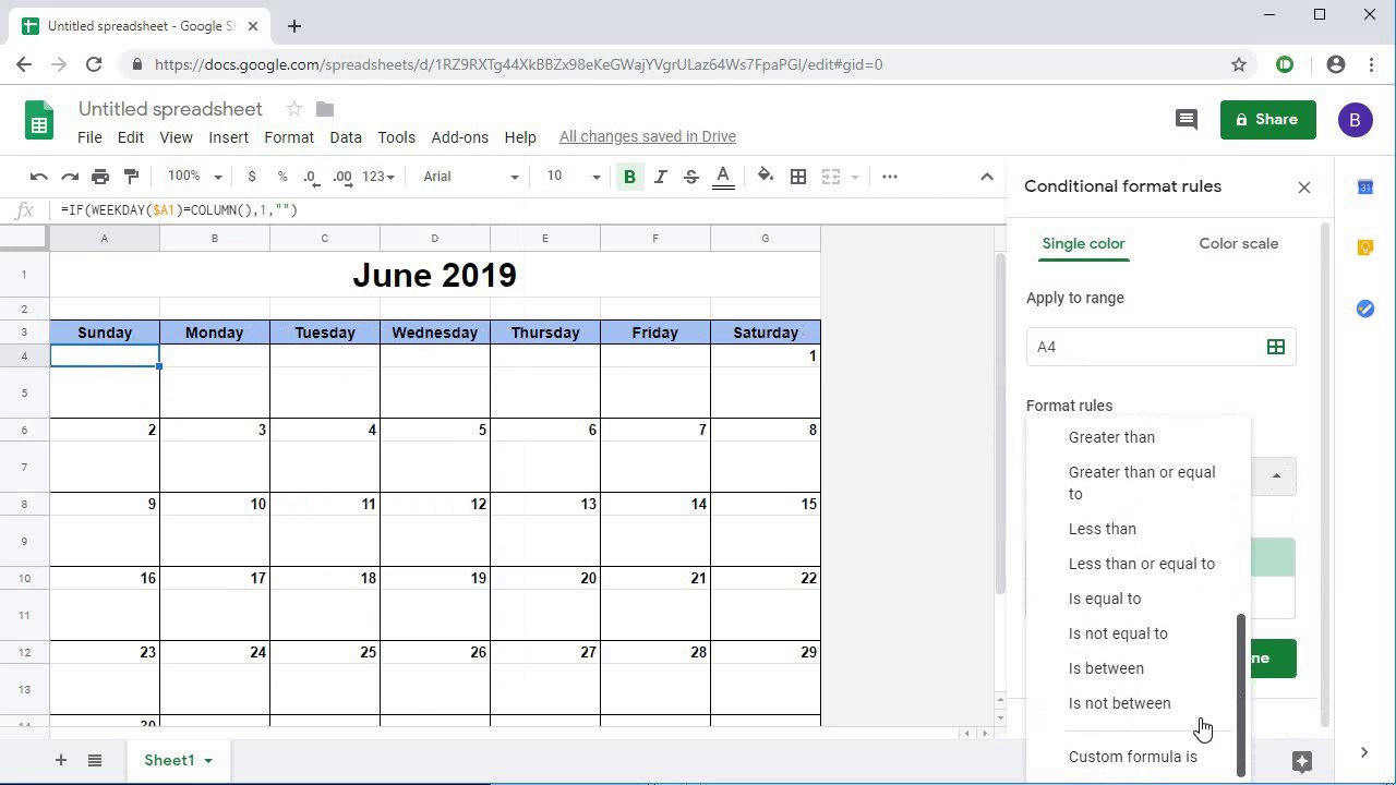 Creating A Dynamic Monthly Calendar In Google Sheets regarding Calendar Maker Google Docs