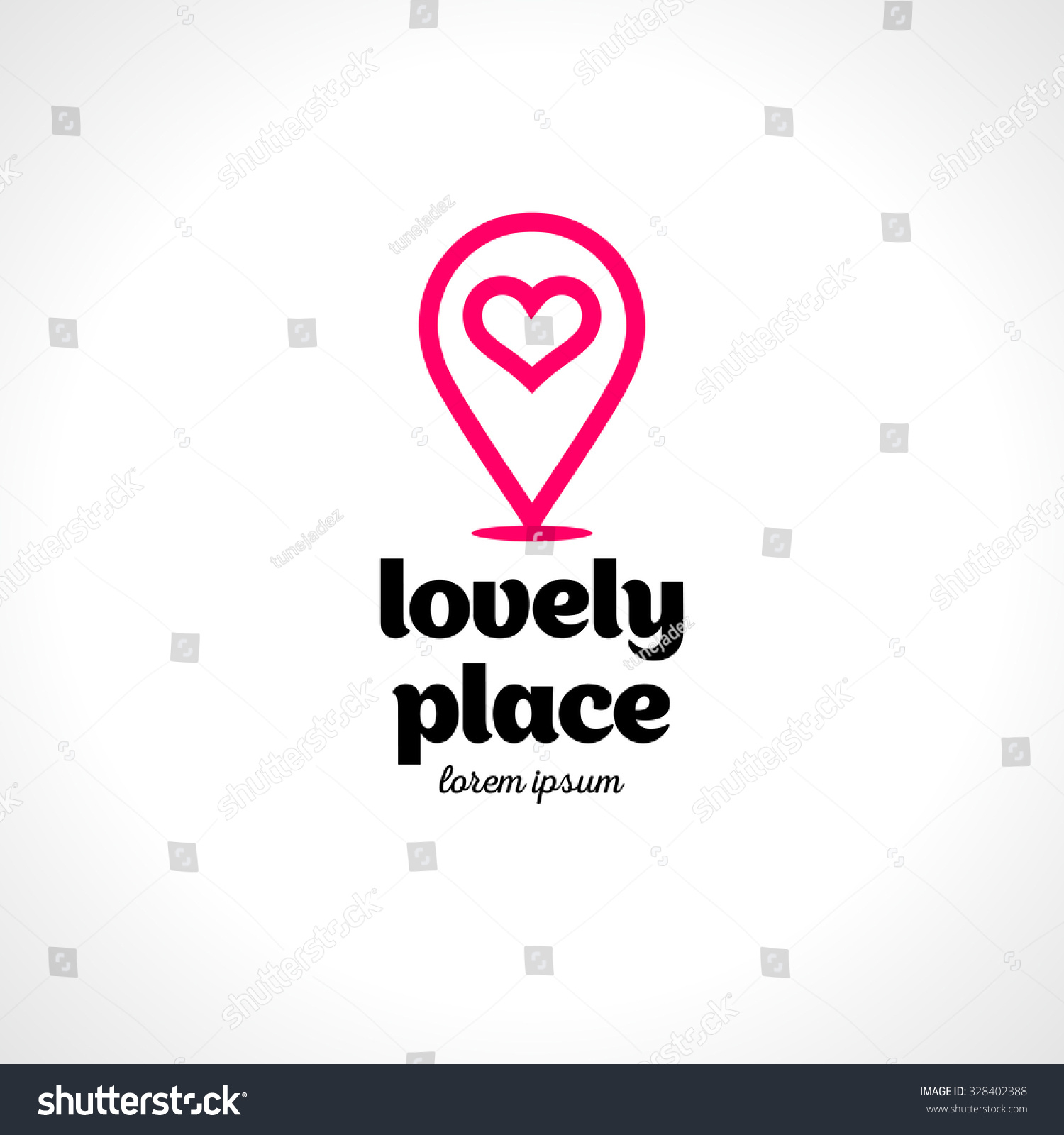 Creative Logo Heart Map Marker Vector Stock Vector (Royalty inside Heart Map Template