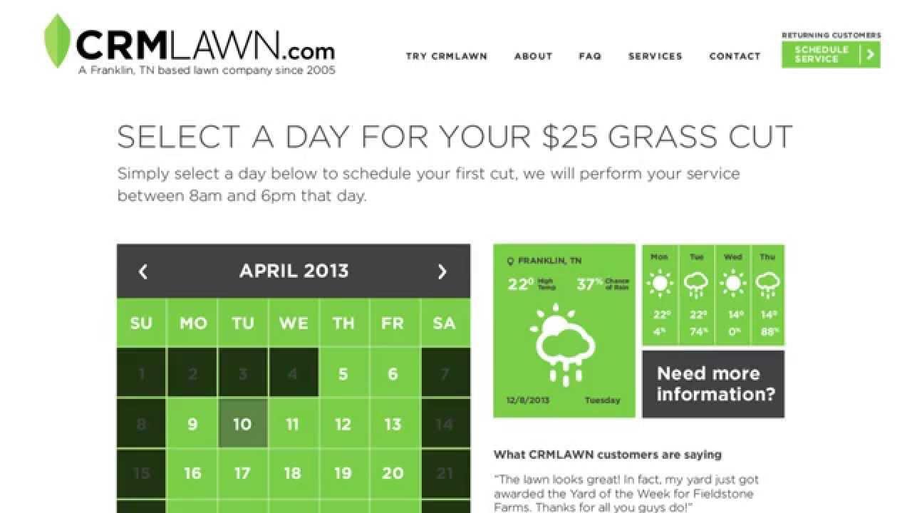 Crm Lawn  Lawn Care In Franklin, Tn inside Lawn Care Crm
