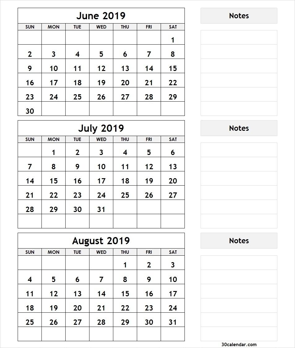 Crush 3 Month Printable Calendars | Kenzi's Blog for Printable Calendar 3 Month